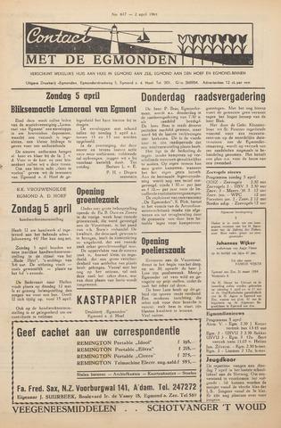 Contact met de Egmonden 1964-04-02