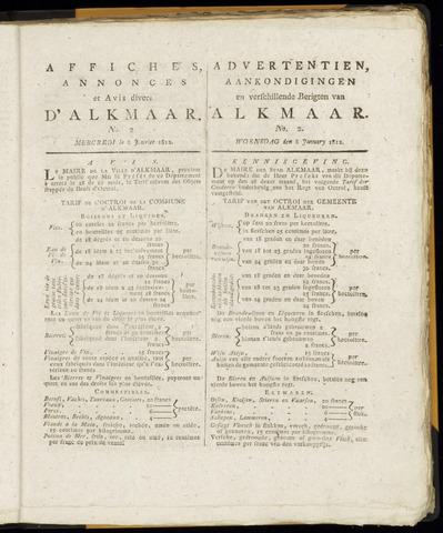 Alkmaarsche Courant 1812-01-08