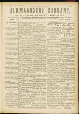 Alkmaarsche Courant 1917-08-18