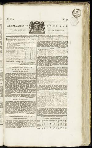 Alkmaarsche Courant 1839-11-25