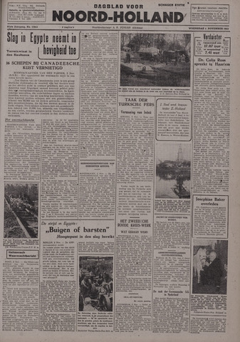 Dagblad Noord-Holland, Schager editie 1942-11-04