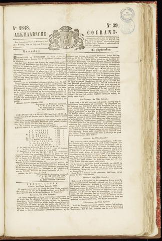 Alkmaarsche Courant 1848-09-25