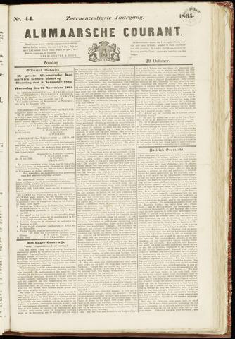 Alkmaarsche Courant 1865-10-29