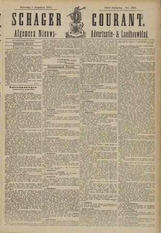 Schager Courant 1911-08-05