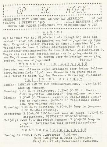 Op De Hoek, weekblad voor Akersloot 1965-02-12