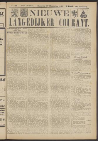 Nieuwe Langedijker Courant 1920-11-27