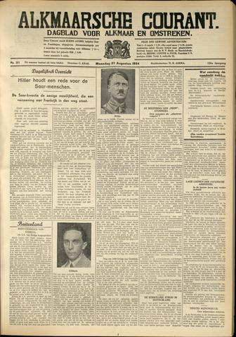 Alkmaarsche Courant 1934-08-27