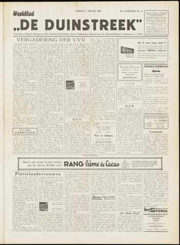 De Duinstreek 1958-03-07