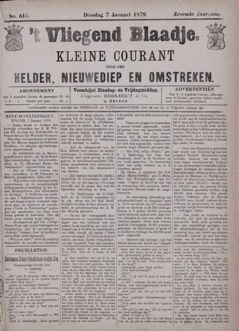 Vliegend blaadje : nieuws- en advertentiebode voor Den Helder 1879-01-07