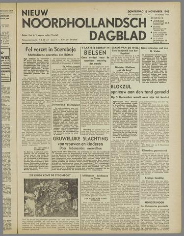 Nieuw Noordhollandsch Dagblad : voor Alkmaar en omgeving 1945-11-15
