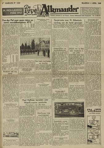 De Vrije Alkmaarder 1949-04-04
