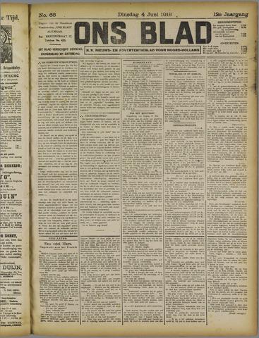 Ons Blad : katholiek nieuwsblad voor N-H 1918-06-04