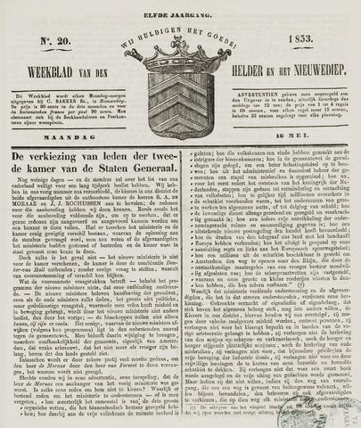 Weekblad van Den Helder en het Nieuwediep 1853-05-16
