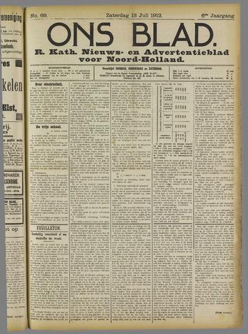 Ons Blad : katholiek nieuwsblad voor N-H 1912-07-13