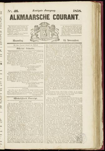 Alkmaarsche Courant 1858-11-15