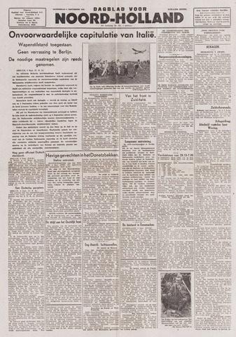 Dagblad Noord-Holland, Schager editie 1943-09-09