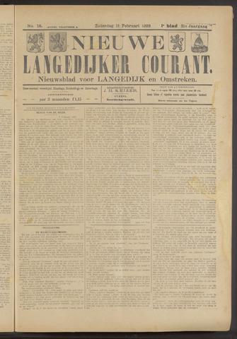 Nieuwe Langedijker Courant 1922-02-11