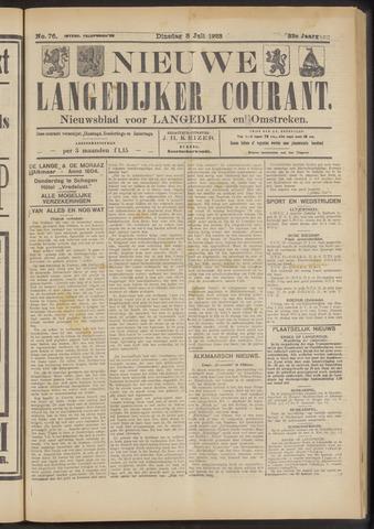 Nieuwe Langedijker Courant 1923-07-03