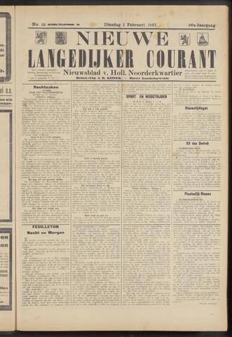 Nieuwe Langedijker Courant 1927-02-01