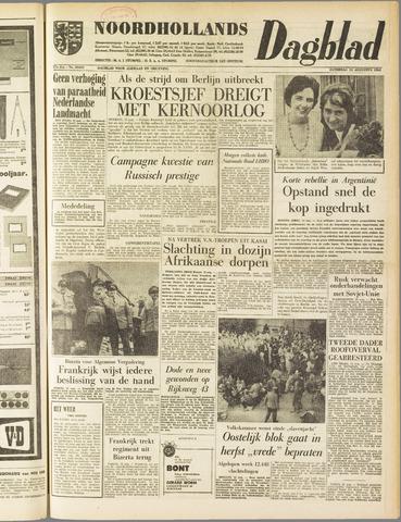 Noordhollands Dagblad : dagblad voor Alkmaar en omgeving 1961-08-12