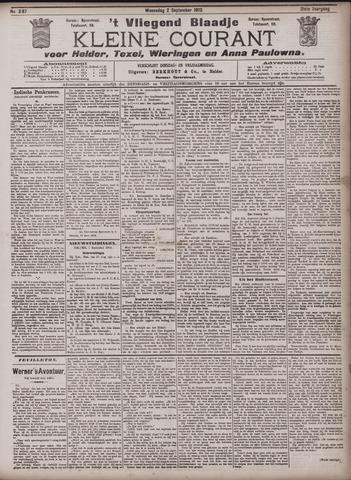 Vliegend blaadje : nieuws- en advertentiebode voor Den Helder 1903-09-02