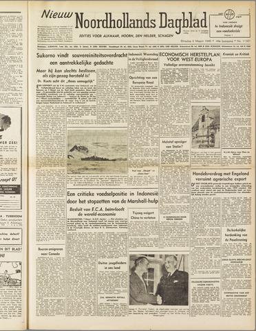 Nieuw Noordhollandsch Dagblad : voor Alkmaar en omgeving 1949-03-08