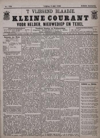 Vliegend blaadje : nieuws- en advertentiebode voor Den Helder 1880-07-02
