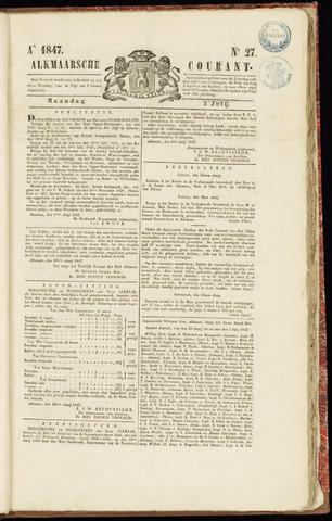 Alkmaarsche Courant 1847-07-05