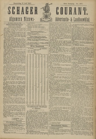 Schager Courant 1911-07-27