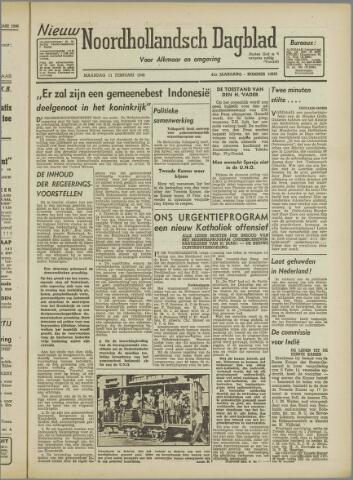 Nieuw Noordhollandsch Dagblad : voor Alkmaar en omgeving 1946-02-11