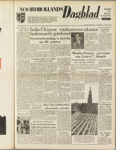 Noordhollands Dagblad : dagblad voor Alkmaar en omgeving 1954-07-21
