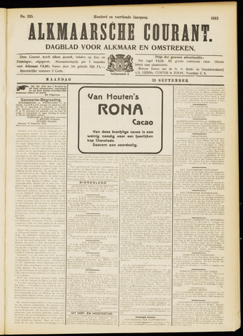 Alkmaarsche Courant 1912-09-23
