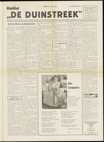 De Duinstreek 1956-01-27