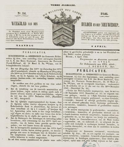 Weekblad van Den Helder en het Nieuwediep 1846-04-06