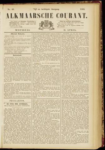 Alkmaarsche Courant 1883-04-25