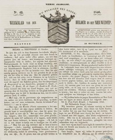 Weekblad van Den Helder en het Nieuwediep 1846-10-19