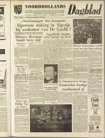 Noordhollands Dagblad : dagblad voor Alkmaar en omgeving 1960-12-08