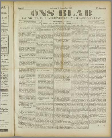 Ons Blad : katholiek nieuwsblad voor N-H 1920-12-11