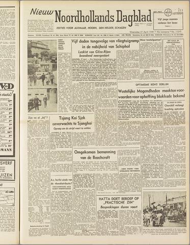 Nieuw Noordhollandsch Dagblad : voor Alkmaar en omgeving 1949-04-27