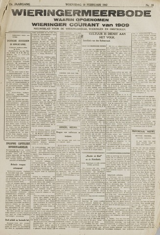 Wieringermeerbode 1942-02-18
