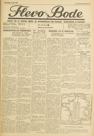 Flevo-bode: nieuwsblad voor Wieringen-Wieringermeer 1947-07-02