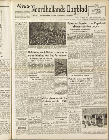 Nieuw Noordhollandsch Dagblad : voor Alkmaar en omgeving 1949-03-22