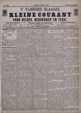 Vliegend blaadje : nieuws- en advertentiebode voor Den Helder 1880-06-18