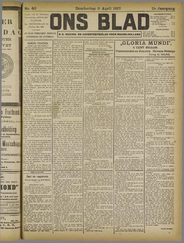 Ons Blad : katholiek nieuwsblad voor N-H 1917-04-05