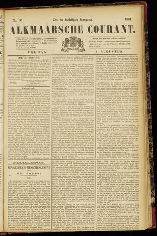 Alkmaarsche Courant 1884-08-01