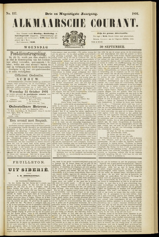 Alkmaarsche Courant 1891-09-30