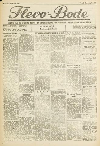 Flevo-bode: nieuwsblad voor Wieringen-Wieringermeer 1947-03-12