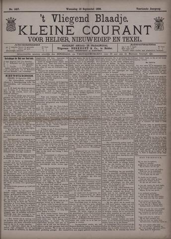 Vliegend blaadje : nieuws- en advertentiebode voor Den Helder 1886-09-15