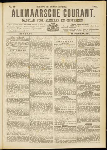 Alkmaarsche Courant 1906-02-27
