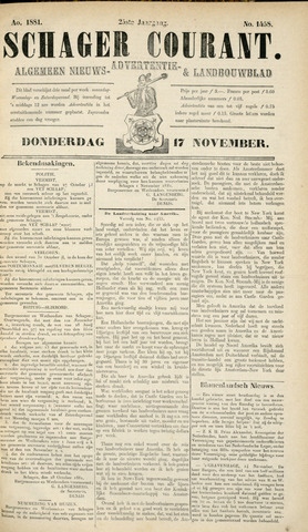 Schager Courant 1881-11-17